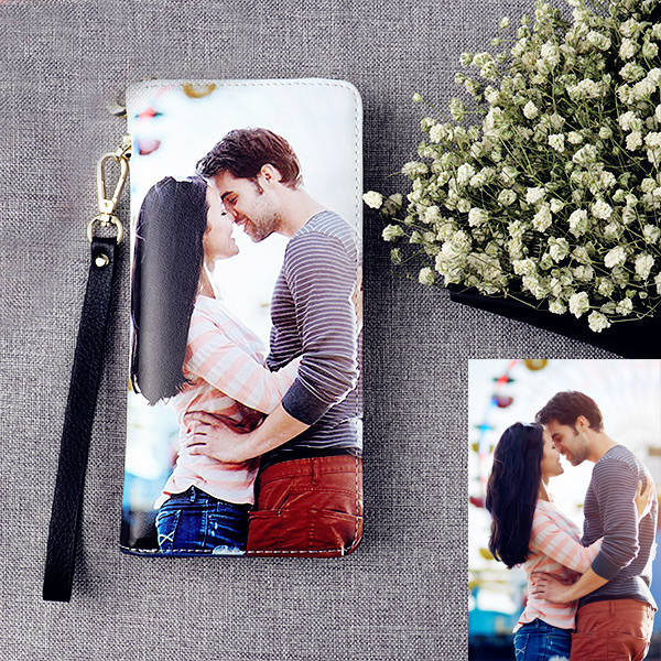 Personalized Photo Top-Grain Leather Wallet