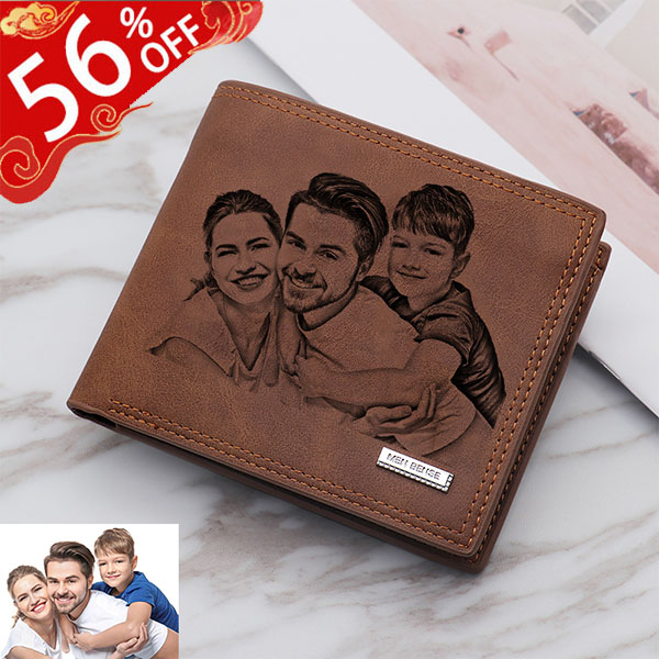 Personalized Vintage Soft Leather Men's Trifold Wallet
